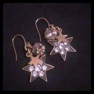 J. Crew Rhinestone Star dangly earrings